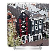 Houses In Amsterdam From Above Shower Curtain