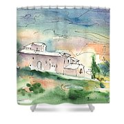 Houses In Montepulciano In Tuscany 02 Shower Curtain