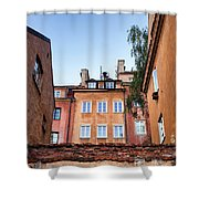 Houses In The Old Town Of Warsaw Shower Curtain