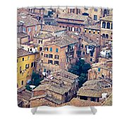 Houses Of Old City Of Siena - Tuscany - Italy - Europe Shower Curtain