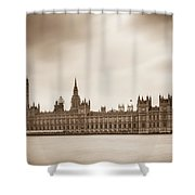 Houses Of Parliament And Elizabeth Tower In London Shower Curtain