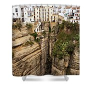 Houses On A Rock In Ronda Shower Curtain