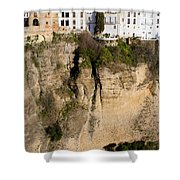 Houses On Rock In Ronda Shower Curtain