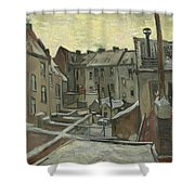 Houses Seen From The Back Shower Curtain