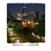 Houston At Night Shower Curtain