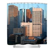 Houston Financial District Shower Curtain