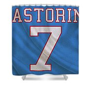 Houston Oilers Dan Pastorini Shower Curtain