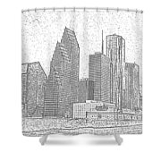 Houston Skyline Abstract Shower Curtain