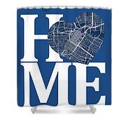 Houston Street Map Home Heart - Houston Texas Road Map In A Hear Shower Curtain