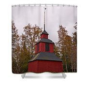 Houtskari Church Clock Tower Shower Curtain