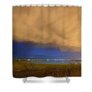 Hovering Stormy Weather Shower Curtain