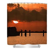 Hovering Sun Shower Curtain