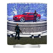 How Did You Get That Car Up There? Shower Curtain