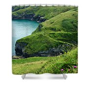 Rolling Hills Of Green Shower Curtain