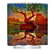How One Tree Becomes Two Shower Curtain