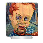 Howdy Von Doody Shower Curtain