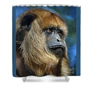 Howler Monkey Shower Curtain