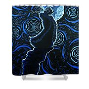 Howling At The Moon Shower Curtain