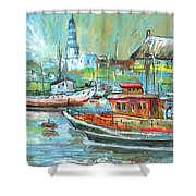 Howth Harbour 01 Shower Curtain