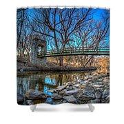 Hoyt Bridge Shower Curtain