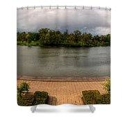 Hoyt Lake At Delaware Park Shower Curtain