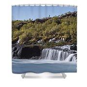 Hraunfossar Iceland 9 Shower Curtain