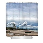 Hua Hin Coastline Shower Curtain