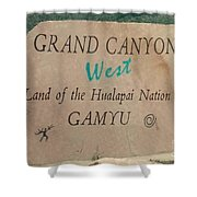 Hualapai Nation Signpost Shower Curtain