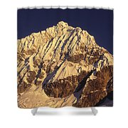 Mt Huandoy Sunrise Cordillera Blanca Shower Curtain