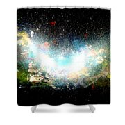 Hubble Birth Of A Galaxy Shower Curtain