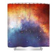 Hubble - Helix Nebula Comet - Like Filaments Shower Curtain