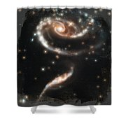 Hubble - Rose Made Of Galaxies Shower Curtain