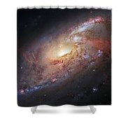 Hubble View Of M 106 Shower Curtain by Adam Romanowicz