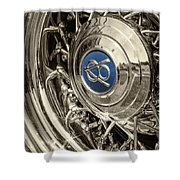 Hubcap Deluxe Shower Curtain