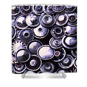 Hubcaps Shower Curtain