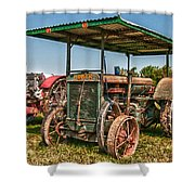 Huber Tractor Shower Curtain