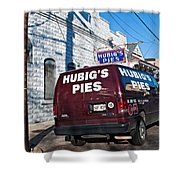 Hubig's Pies Shower Curtain