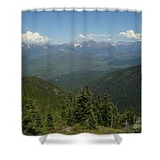 View Of The Rockies From Huckleberry Mountain Glacier National Park Shower Curtain