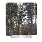 Huckleberry Trail Shower Curtain