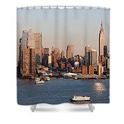 Hudson River And Manhattan Skyline I Shower Curtain