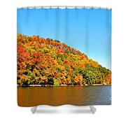 Hudson River Fall Foliage Shower Curtain