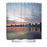 Hudson River Sunrise Nyc Shower Curtain