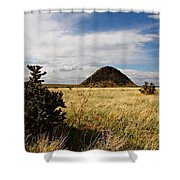 Huerfano Butte Shower Curtain