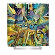 Hues And The Blues Shower Curtain