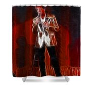 Huey Lewis-fractal Shower Curtain