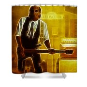 Huey Lewis-mario-gd19a-fractal Shower Curtain