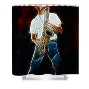 Huey Lewis--johnny-ge2a-fractal Shower Curtain