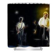 Huey Lewis-ge7-fractal Shower Curtain