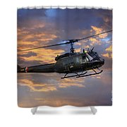 Huey - Vietnam Workhorse Shower Curtain
