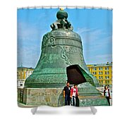 Huge Bell That Cracked In A Pit Inside Kremlin Walls In Moscow-r Shower Curtain